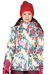 Abbigliamento da neve Giacche da sci/snowboard Unisex Abbigliamento invernale Tessuto sintetico Righe Floral / botanico Vestiti invernali