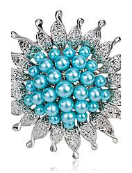 lega di modo / brooches del fiore perla pin partito delle donne / quotidiano / gioielli di lusso di nozze accessorio 1pc