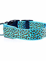 cheap -Dog Collar LED Lights Adjustable / Retractable Rechargeable Electronic/Electric Leopard Nylon Purple Yellow Red Green Blue