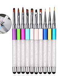 cheap -1pcs Rhinestone Nail Art Brush Pen Screen Touchable Quartz Metal Acrylic Handle Carving Salon DIY Liner Manicure Tools