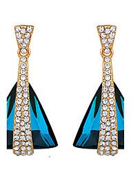 ieftine -Dame Cercei Picătură Safir Cristal La modă Cristal Bijuterii Pentru Nuntă Petrecere Zilnic