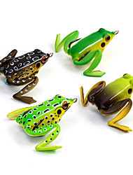"cheap -1 pcs Soft Bait Fishing Lures Frog Brown Green Yellow Coffee  g/Ounce mm/21/8"" inch,Soft PlasticSea Fishing Spinning"