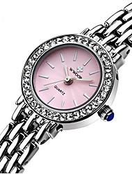 baratos -WWOOR Mulheres Relógio de Moda Impermeável Aço Inoxidável Banda Amuleto / Casual Prata / Sony S626 / Dois anos