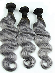 Недорогие -Человека ткет Волосы Евро-Азиатские волосы Естественные кудри 3 месяца 3 предмета волосы ткет