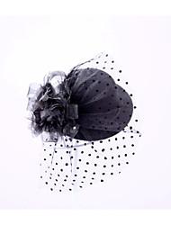 Недорогие -горный хрусталь flannelette перо шляпы головной убор элегантный стиль