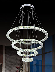cheap -LED Crystal Pendant Light Chandeliers Lighting Ceiling Lamp for Indoor  with 4ring 15305070CM 73.5W CE FCC ROHS