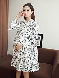 assinar mulheres grávidas Hitz vestido floral de manga comprida para as mulheres grávidas