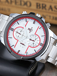 cheap -Men's Quartz Wrist Watch Sport Watch Hot Sale Stainless Steel Band Casual Dress Watch Fashion White
