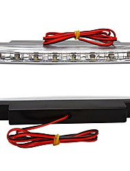 ZIQIAO 2X Super Bright White 8 LED DRL Car Daytime Running Light Head Lamp