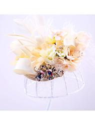 Недорогие -тюль горный хрусталь сетка шляпы головной убор элегантный классический женский стиль