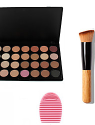 3in1 Makeup Set(28 Colors Bronzer/Foundation/Blush/Primer Professional Cosmetic Palette+1 Bronzer Brush+1 Brush Egg)