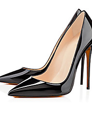Women's Heels Spring Summer Fall Patent Leather Party & Evening Casual Stiletto Heel  Black White Almond