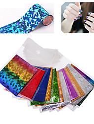 Autocolantes de Unhas 3D / Jóias de Unhas - Adorável / Punk - para Dedo - de PVC - com 10pcs - 25*4.5