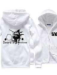 cheap -Inspired by Sword Art Online Cosplay Anime Cosplay Costumes Cosplay Hoodies Print Long Sleeves Top For Men's Women's