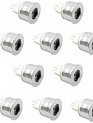 10pcs 3W LED Spotlight MR11 High Power LED 350lm Warm White Cold White DC12V