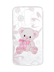 For LG V20 V10 Case Cover Cartoon Bear Pattern Back Cover Soft TPU for K10 K8 K7 G5 G4 G3