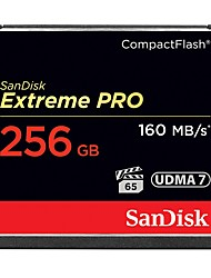 Недорогие -SanDisk 256GB Compact Flash  CF Card карта памяти Extreme PRO 1067X UDMA7