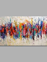 abordables -Pintada a mano Abstracto / Paisaje Pinturas de óleo,Modern / Pastoral Un Panel Lienzos Pintura al óleo pintada a colgar For Decoración