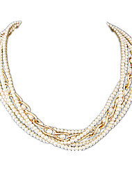 cheap -Women's Pearl Imitation Pearl Pearl Necklace Strands Necklace - Multi Layer Fashion Necklace For Party Daily