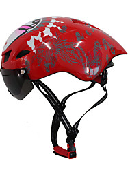 cheap -Bike Helmet 6 Vents CE Certified Cycling Adjustable Extreme Sport One Piece Helmet with Goggles Aero Helmet Urban Mountain Ultra Light