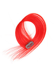 2 Pcs/Set 4 Clips Clip In Hair Extensions Red 14Inch 18Inch 100% Human Hair For Women