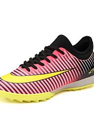 preiswerte -Fußball-Schuhe TPR Rutschfest, Anti-Shake, Atmungsaktiv Künstliche Mikrofaser Polyurethan Fussball Grau / Rot / Violett