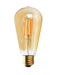 E26 LED Filament Bulbs ST21 4 COB ≥300 lm Warm White 2200 K Dimmable AC 110-130 V