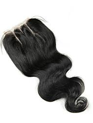 Χαμηλού Κόστους -Κυματομορφή Σώματος 4x4 Κλείσιμο Κινέζοι Δαντέλα Φυσικά μαλλιά Δωρεάν Μέρος Μεσαίο τμήμα 3 Μέρος