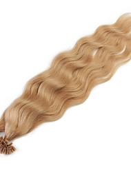 cheap -Fusion /U Tip Human Hair Extensions Natural Wave Women's Daily