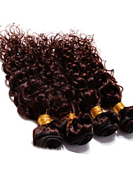 "cheap -4Pcs Lot 300g 12""-30"" Brazilian Deep Curl Virgin Hair Wefts Dark Brown Human Hair Weave"