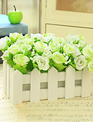 abordables -Fleurs artificielles 1 Une succursale Style moderne Roses Fleur de Table