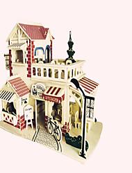 Quebra-cabeças Quebra-Cabeças de Madeira Blocos de construção DIY Brinquedos Lutador Construções Famosas Arquitetura Chinesa 1 Madeira