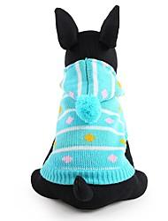 preiswerte -Hund Pullover Hundekleidung Niedlich warm halten Modisch Streifen Blau Rosa Kostüm Für Haustiere