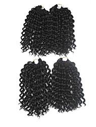Trecce Crochet pre-ciclo Extensions per i capelli 9Inch Kanekalon 1 Package For Full Head filo 170g grammo capelli Trecce