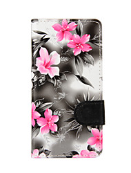 cheap -For Samsung Galaxy A5 (2016) A3 (2016) Case Cover Flowers PU Leather Mobile Phone Holster