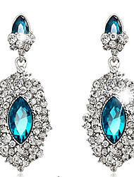 ieftine -Dame Cercei Picătură Safir bijuterii de lux Cristal Diamante Artificiale Picătură Bijuterii Pentru Nuntă Petrecere Zilnic