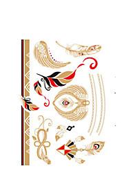 Недорогие -1 pcs Non Toxic / Нижняя часть спины / 3-D Временные татуировки Ар деко/ретро 3D Искусство тела
