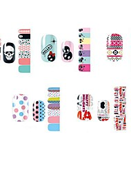 14pcs bello stile cartoon nail art stricker d serie No.1-5 (modello assortiti)