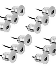 12PCS 1W DC12V WARM WHITE/COOL WHITE LED UNDERGROUND LIGHT