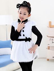 Vestito Girl Per uscire Casual Pelliccia sintetica Cotone Collage Inverno Primavera Autunno Manica corta
