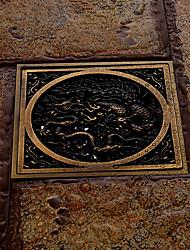 badeværelse tilbehør antik messing finish, massiv messing gulvafløb