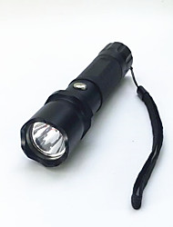 LED Flashlights/Torch LED 800 Lumens 3 Mode LED 1 x 18650 Battery Adjustable Focus Waterproof Compact Size Super Light for