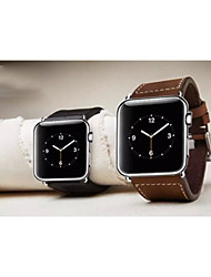 お買い得  -リンゴiwatch、リンゴiwatch用コネクタと時計バンド、iwatch38mm用本革の時計バンドのための時計バンド