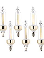 E12 Luci da arredo 2 leds COB Decorativo Bianco caldo Luce fredda 400-500lm 2800-3200/6000-6500K AC110V