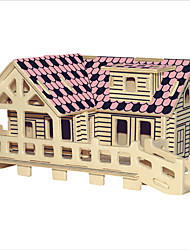 Jigsaw Puzzles Wooden Puzzles Building Blocks DIY Toys The Cabin 1 Wood Ivory Model & Building Toy