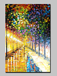 cheap -Hand Painted Streets Landscape Oil Paintings On Canvas Modern Abstract Wall Art Picture For Home Decoration Ready To Hang