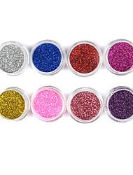 1PCS Laser Glitter Acryl Pulver für 3D Nail Art (Farbe sortiert, Nr.9-16)