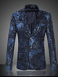 cheap -Men's Club Sophisticated Plus Size Slim Blazer Print Notch Lapel