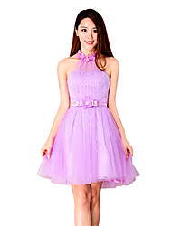 Ball Gown Sweetheart Short / Mini Lace Bridesmaid Dress with Crystal by MD