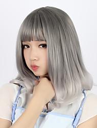 abordables -Amaloli Gris Gradiente de Color Peluca de Lolita  40cm CM Pelucas de Cosplay Pelucas Para